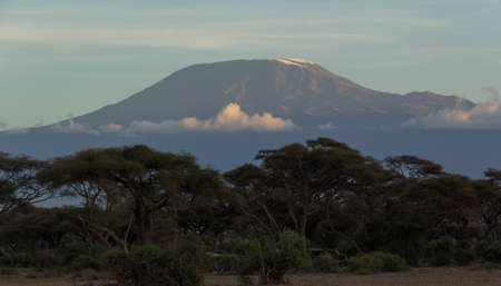 Mt. Kilimanjaro during sunset