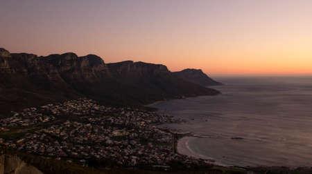 Table Mountain Sunset Reklamní fotografie