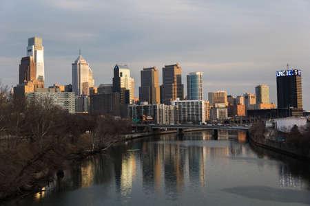 william penn: Downtown Philadelphia Reflection