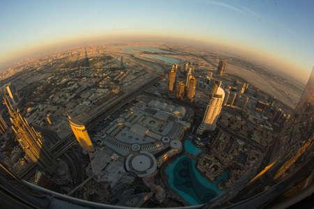 Dubai view from Burj Khalifa Reklamní fotografie