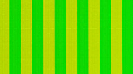 Close-up of green and yellow striped fabric background, chintz sateen, tablecloth, finishing fabric or fabric for tailoring. 3D-rendering Stock Photo