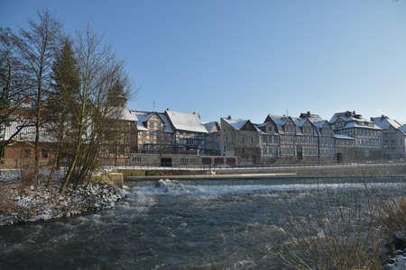 house gables: Half-timbered houses in Hann Mnden on the Weser
