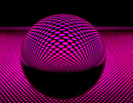 abbildung: Glass ball with perforated plate