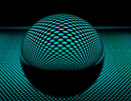 abstrakt: Glass ball with perforated plate