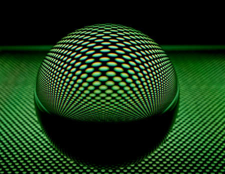 glass ball: Glass ball with perforated plate