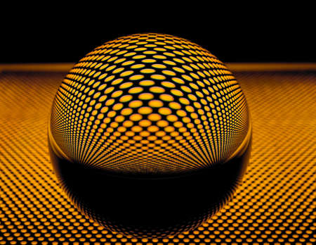 Glass ball with perforated plate
