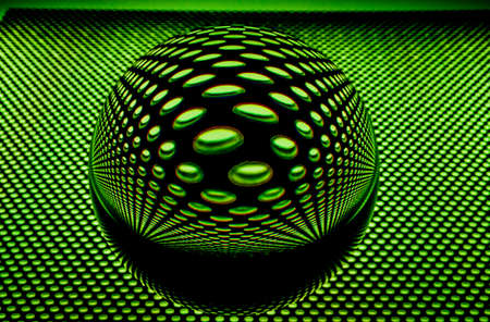 mirroring: Glass ball with perforated plate