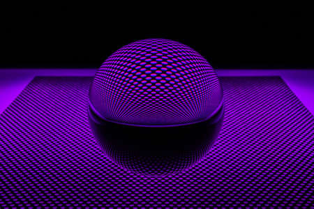 perforated: Glass ball with perforated plate