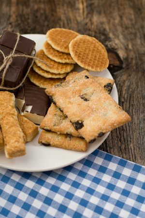 Cookies assortment on the dish Stock Photo