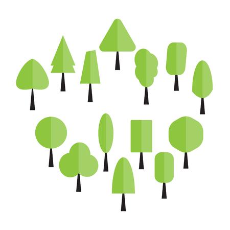 forrest: tree flat design