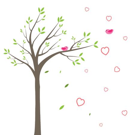나무와 새들