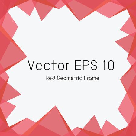 reg: red geometric frame