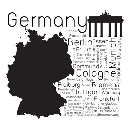 sticker design: Germany map and province