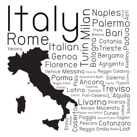 provinces: Italy map and provinces Illustration