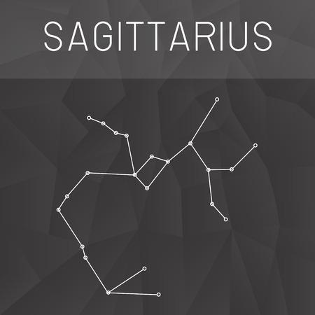 constelación de Sagitario Vectores