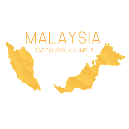malaysia: Malaysia map geometric background