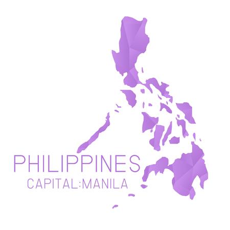philippines map: Philippines map geometric background Illustration