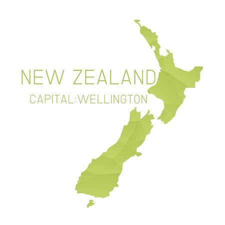 zealand: New Zealand map geometric background