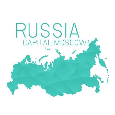 russia map: Russia map geometric background