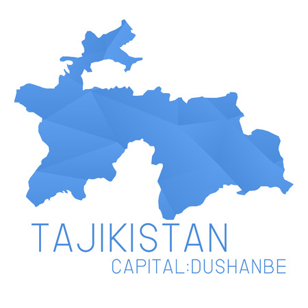 tajikistan: Tajikistan map geometric background