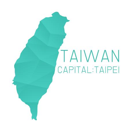 Taiwan map geometric background Illustration