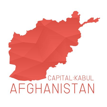 afghanistan: Afghanistan map geometric background