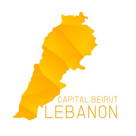 lebanon: Lebanon map geometric background Illustration