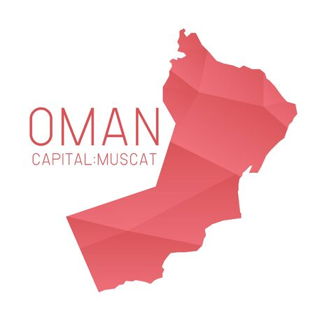 oman background: Oman map geometric background