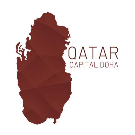 qatar: Qatar map geometric background