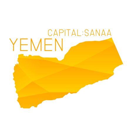 yemen: Yemen map geometric background