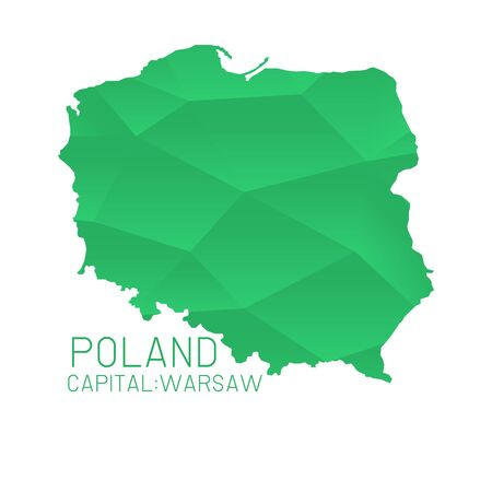 poland: Poland map geometric background