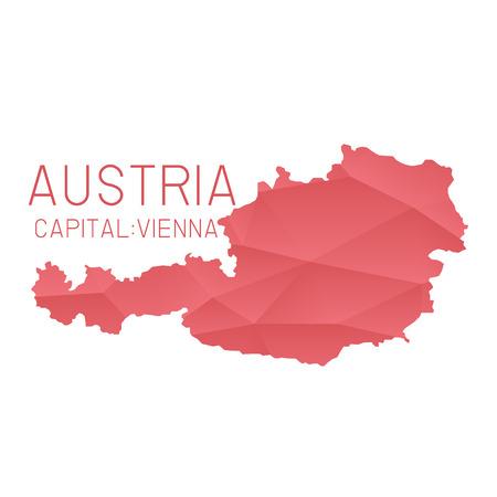 austria map: Austria map geometric background