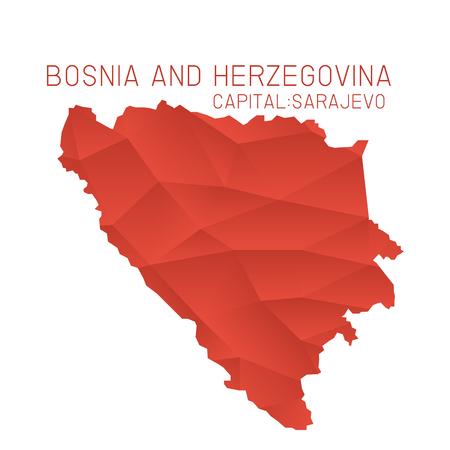 bosnia and  herzegovina: Bosnia and Herzegovina map geometric background