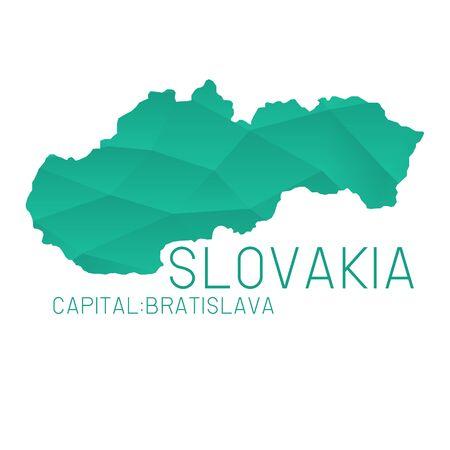 slovakia: Slovakia map geometric texture