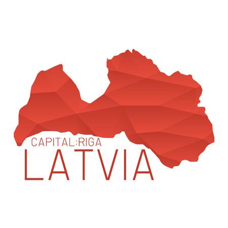 latvia: Latvia map geometric texture