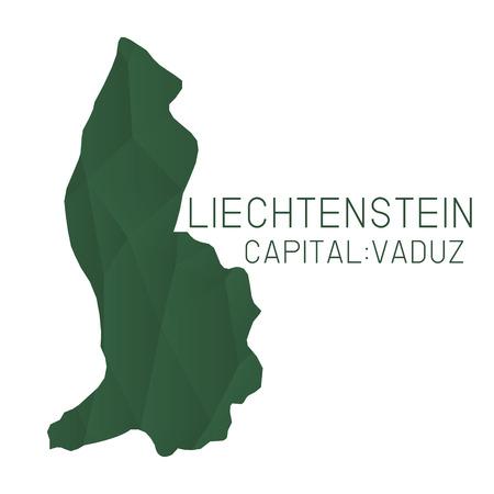 liechtenstein: Liechtenstein map geometric texture Illustration