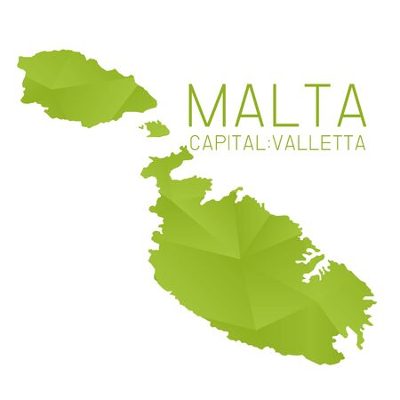マルタのマップの幾何学的なテクスチャー