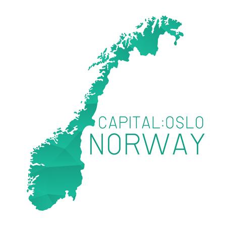 norway: Norway map geometric texture Illustration