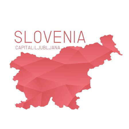 slovenia: Slovenia map geometric texture Illustration