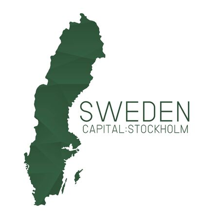 sweden map: Sweden map geometric texture