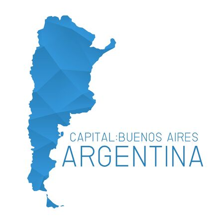 argentina map: Argentina map geometric texture