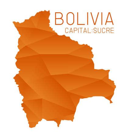 bolivia: Bolivia map geometric texture Illustration