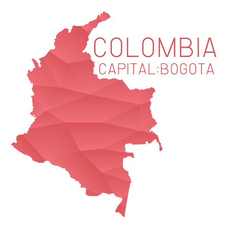 Colombia map geometric texture