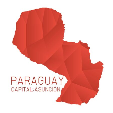 paraguay: Paraguay map geometric texture Illustration