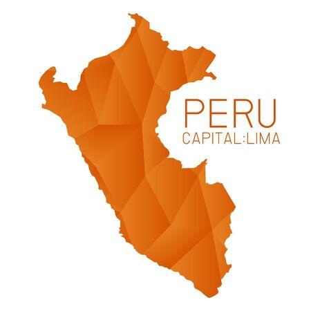 mapa del peru: mapa del Perú textura geométrica Vectores
