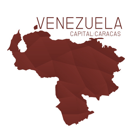 mapa de venezuela: Venezuela mapa de textura geom�trica Vectores
