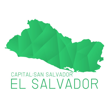 el salvador: El Salvador map geometric background texture Illustration