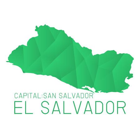mapa de el salvador: El Salvador mapa de textura geom�trica de fondo Vectores