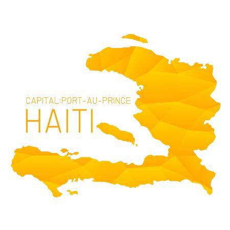 haiti: Haiti map geometric background texture