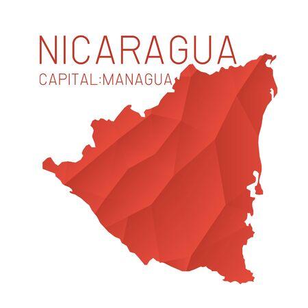Nicaragua map geometric background texture Vetores